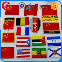 clothing patch embroidery sew on flag patches for sale
