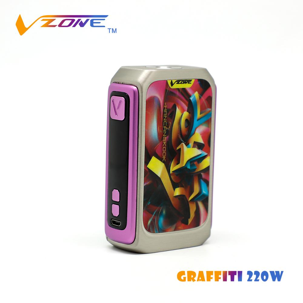 2018 vape pen vzone graffiti 220w mod factory supply directly vape pods tc box mod