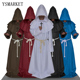 Halloween Comic Con Party Cosplay Costume Monk Hooded Robes Cloak Cape Friar Medieval Renaissance Priest Men For Men E18523
