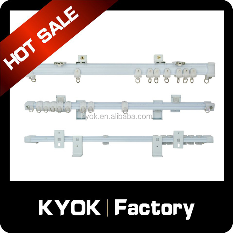 KYOK Double curtain rods and rails,bendable curtain rod rail