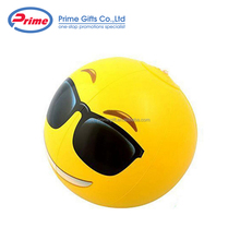 Made in China Inflatable PVC Emoji Beach Ball with Custom Logo Printing