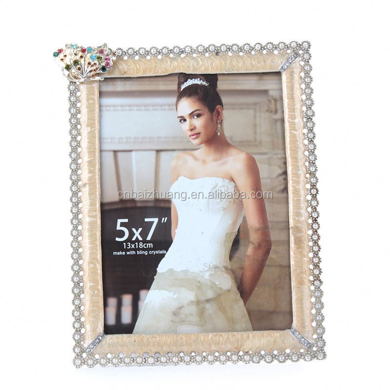 metal photo frame with lock zinc alloy square photo frame photo frame magnet sticker
