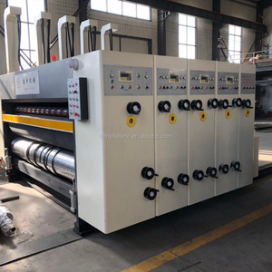 corrugated cardboard printing die cutting machine / fast speed corrugated paperboard printer slotter die cutter with stacker