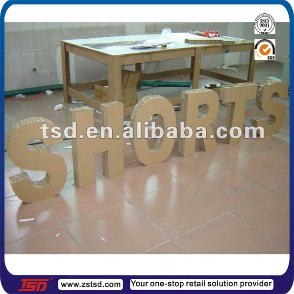 tsd c239 custom large 3d sign honeycomb paper board letters cardboard alphabet letters for