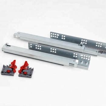 Full Extension Soft Closing Kitchen Furniture Cabinet Hardware Concealed  Soft Close Drawer Slides Undermount Drawer Slide Rail - Buy Drawer ...