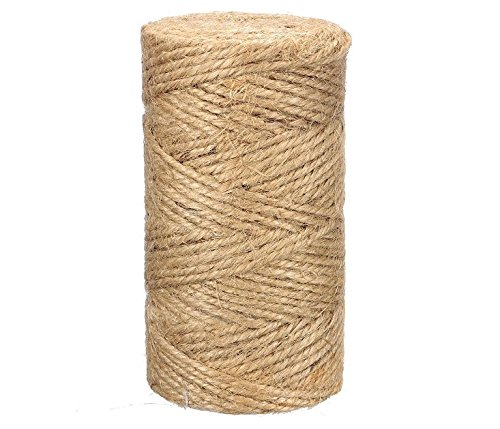 JQWORKLAND Feet Natural Jute Twine Best Industrial Packing Materials Heavy Duty Natural Jute Twine for Arts and Crafts and Gardening Applications (300 Feet Twine)