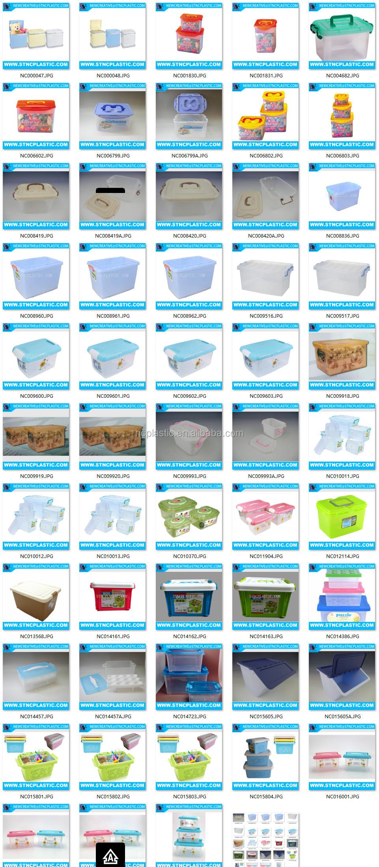 Cd Plastik Organizer Penyimpanan Kotak Dengan Wadah Pegangan 13l