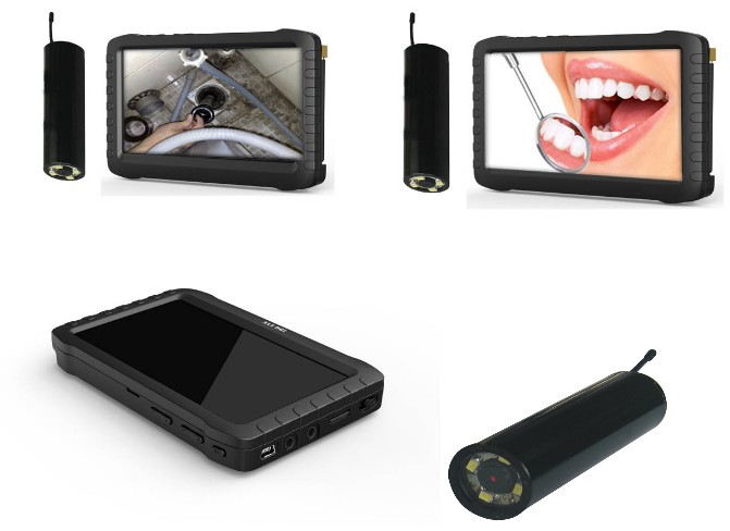 Hot selling 2.4GHZ wireless mini portable dvr with 5 inch lcd monitor, video recording, support tf card