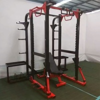 Professional Multi Functional Weight Lifting Training Smith Machine Power Cage Squat Rack Benches Press Power Rack PS14