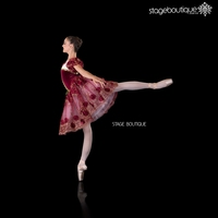 sovereign romantic burgundy red maroon belly ballet dance costumes women