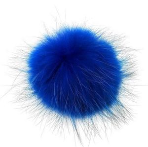 Factory price real Rabbit fur Pom Pom cat toy ball producer