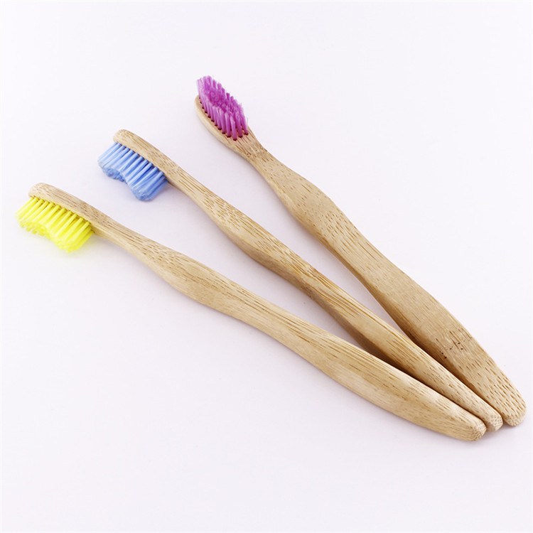 Wholesale wood color bamboo toothbrush