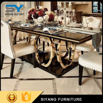Marble Dining Table And Chair Sets Designs Whole Furniture China Ct008 Nail Restaurant Tables Chairs