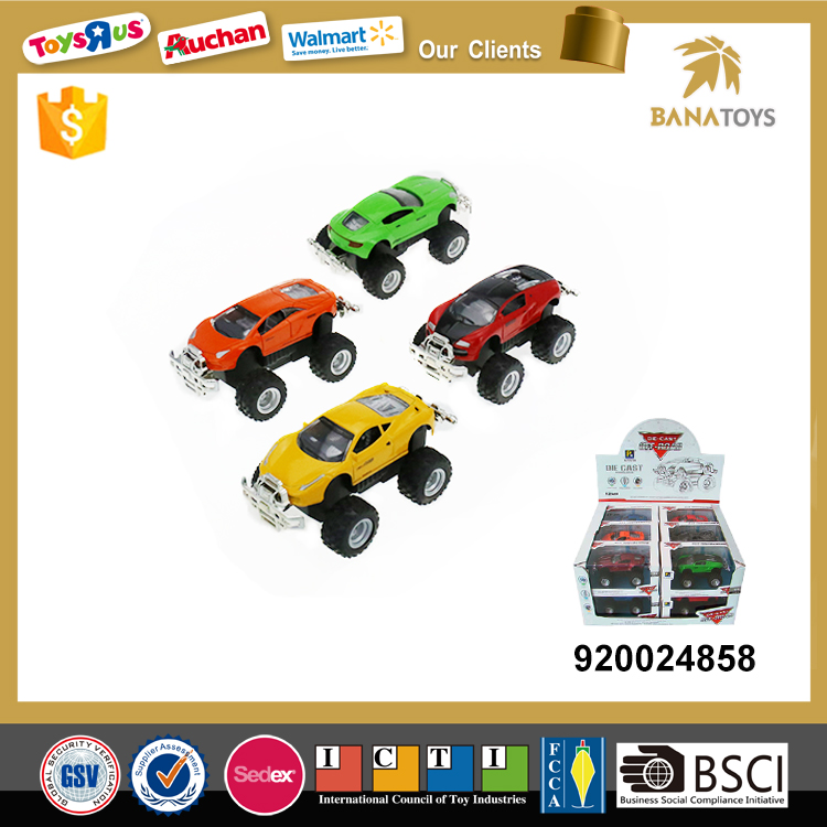 Friction alloy power wheels toy car for kids