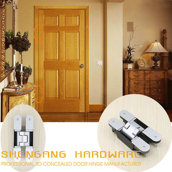 Interior Door 3way Invisible Door Hinges Open 180 Degree Hidden Hinge