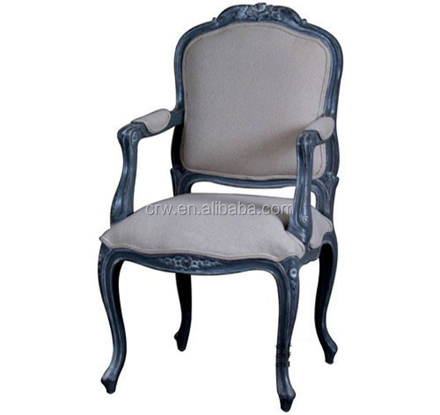 Rch-4012 Victorian Modern Upholstered Carver Dining Chairs