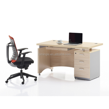 Hot Sale Modern Melamine Computer Table Cheap Laptop Desk With 3