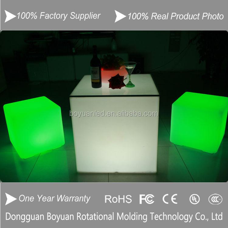 Led Light Up Bar Cube Side Table