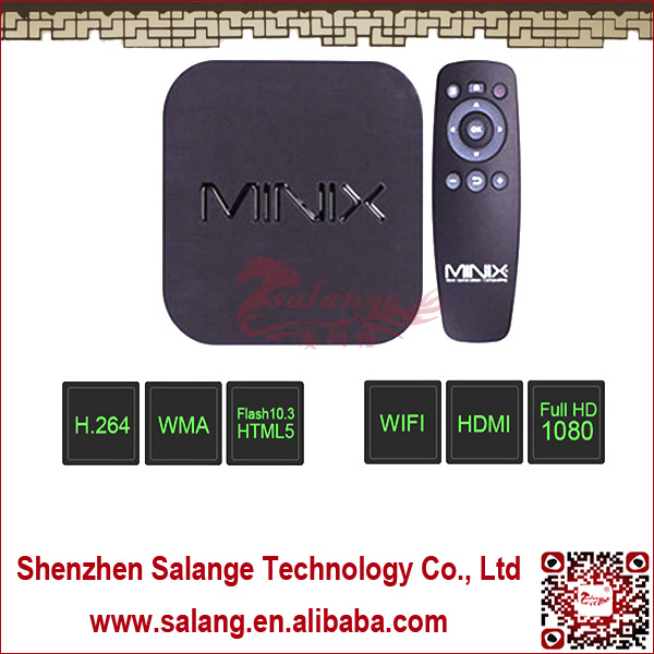 New 2014 made in China Qual Core DDR3 2G Nand Flash 8G Quad-Core Mali 400 NEO X7 mini android 4.0 mini pc <strong>tv</strong> box by salange