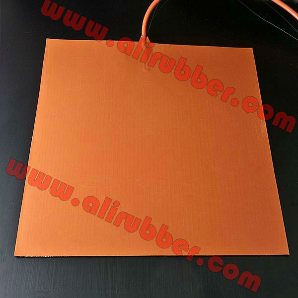24v Silicone Heated Bed 3d Printer Heating Pad 400x400mm 480w with Adhesive, 100k Thermistor