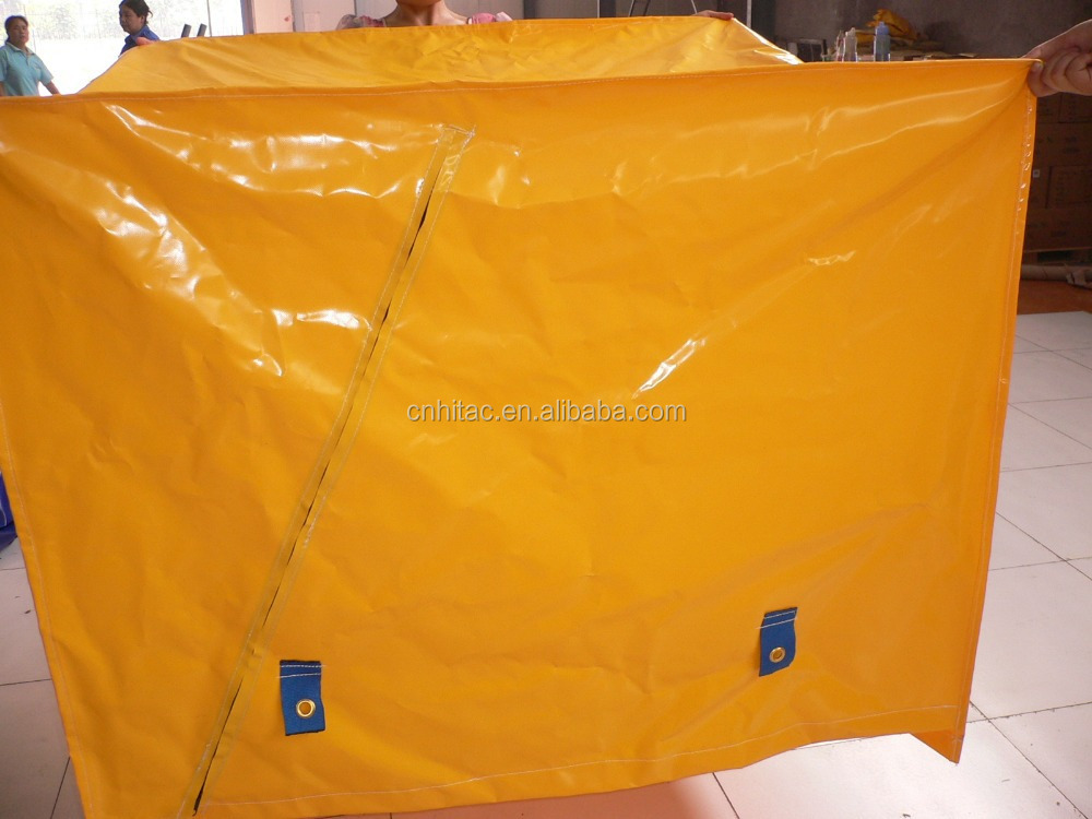 Uv Resistant Waterproof Polyester Pvc Plastic Pallet Cover