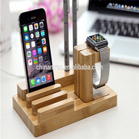 office accessories Wooden desktop bamboo desk organizer for pen, mobile phone