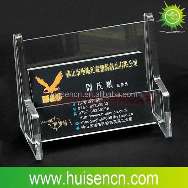 Acrylic clear place card holder/plastic card holder foshan supplier