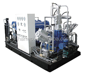 Compressed Natural Gas Compressor CNG station pump booster 2500Nm3/h up tp 25MPa L V W D type PLC control exposion proof motor