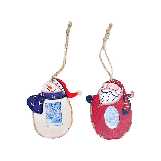 2019 hot sale Christmas Santa Claus Snowman Photo Frame Picture Holder Frame Xmas Tree Ornaments Gift Home Decoration