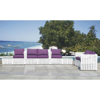 New White Plastic Outdoor Chairs And Coffee Table Wicker Rattan Hot