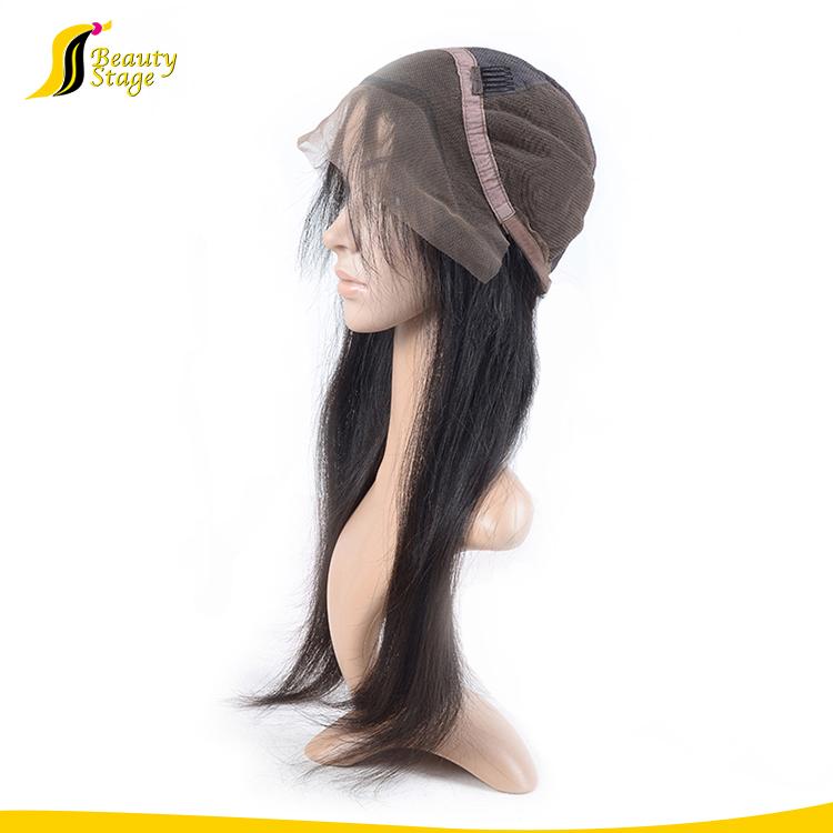 Pas cher prix facile à teindre double dessiné remy cheveux perruques naturel d'origine en gros vierge