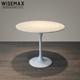 Classical modern style restaurant cafe furniture Saarinen white round natural Marble top Tulip dining table
