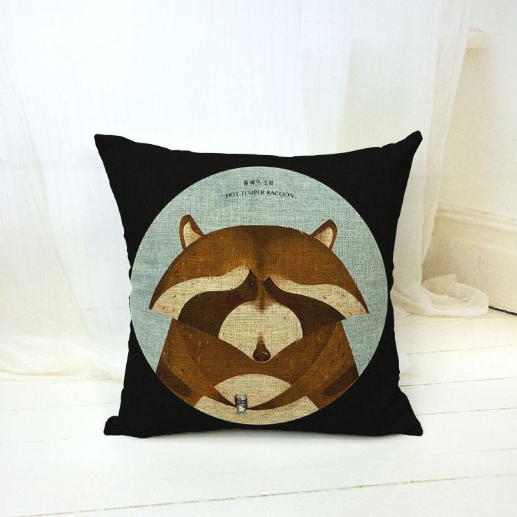18 X 18 Animal Black Decorative Throw Pillow Kussens Home Decor Cushion Coussin Cuscini Scandinavian Cojin Nordic Pouf Almofada