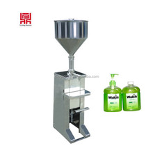 Pedal type paste/ liquid cosmetic cream paste lotion filling machine for toothpaste