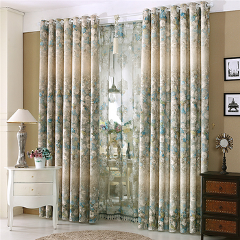 Luxury And Classic Curtains Eyelet Design Curtains Double Layer ...