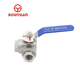 Bovalve 2 inch flange three way ball valve with low price