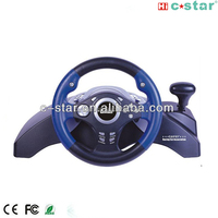 2017 3 in 1 car game steering wheel with vibration for racing game