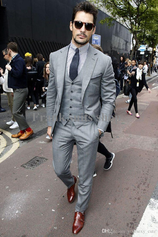 2017 custom made mens light grey suits fashion formal dress men suit set men wedding suits groom tuxedos jacket pants vest tie fashion tuxedo tuxedo fashionmen suit set aliexpress aliexpress