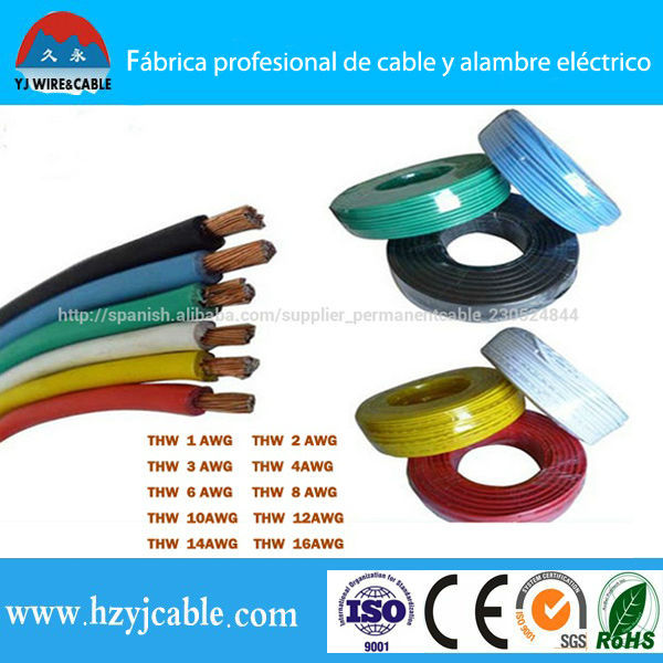 Pvc Cover Electrical Wire Thw Or Tw Awg 14 12 10 8 6 Solid Or ...