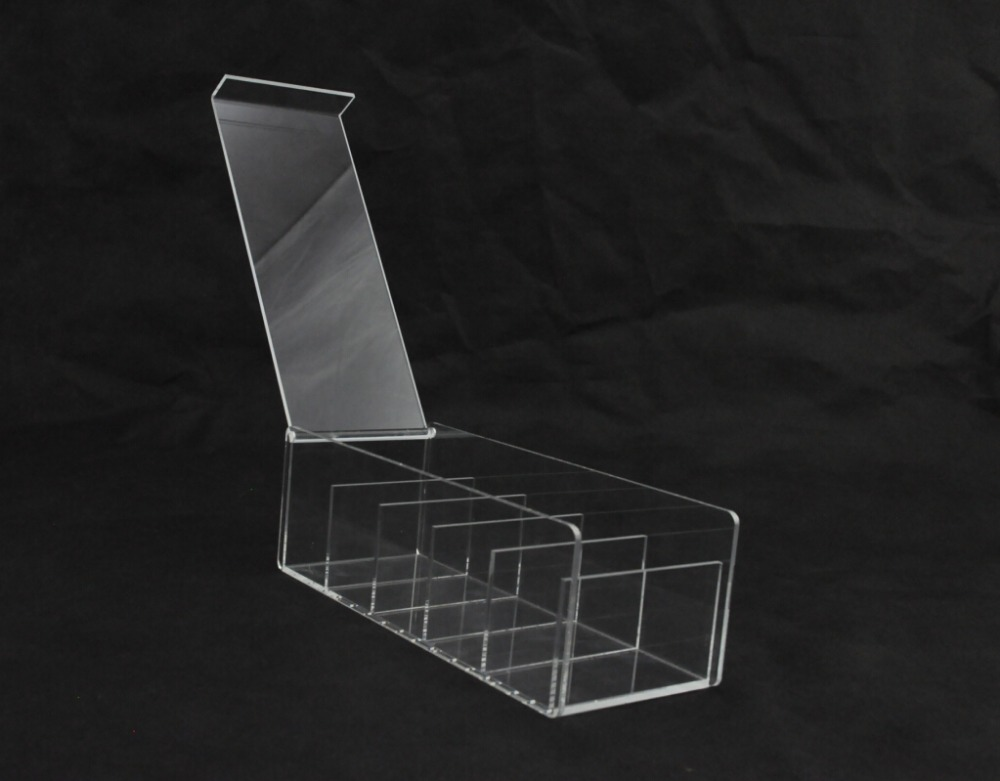 Clear Acrylic Square Shape Multifunctional compartment Storage box / Organizer with lid