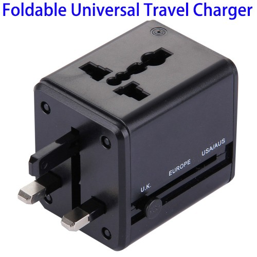 Wholesale All in One Foldable Universal UK US EU Plug AC Power Adapter Charger