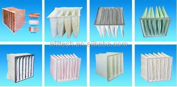 Air filter type bag filter frame washable cotton air filter