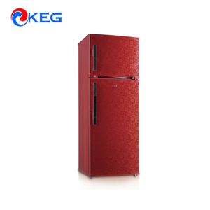 452L Quality Large Volume Red Flower VCM Double Door Refrigerators With Water Dispenser