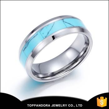 41ac4220df78 Compromiso de la boda anillo de acero inoxidable de diamantes de imitación  18 K oro blanco