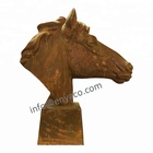 Rustic Cast Iron Outdoor Life Size Garden Animal Horse Statues