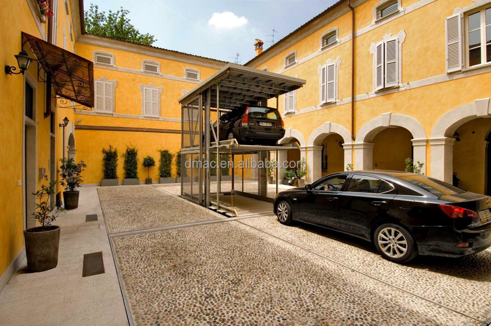 2 level invisible car lift parking system/car lift for home garage ...