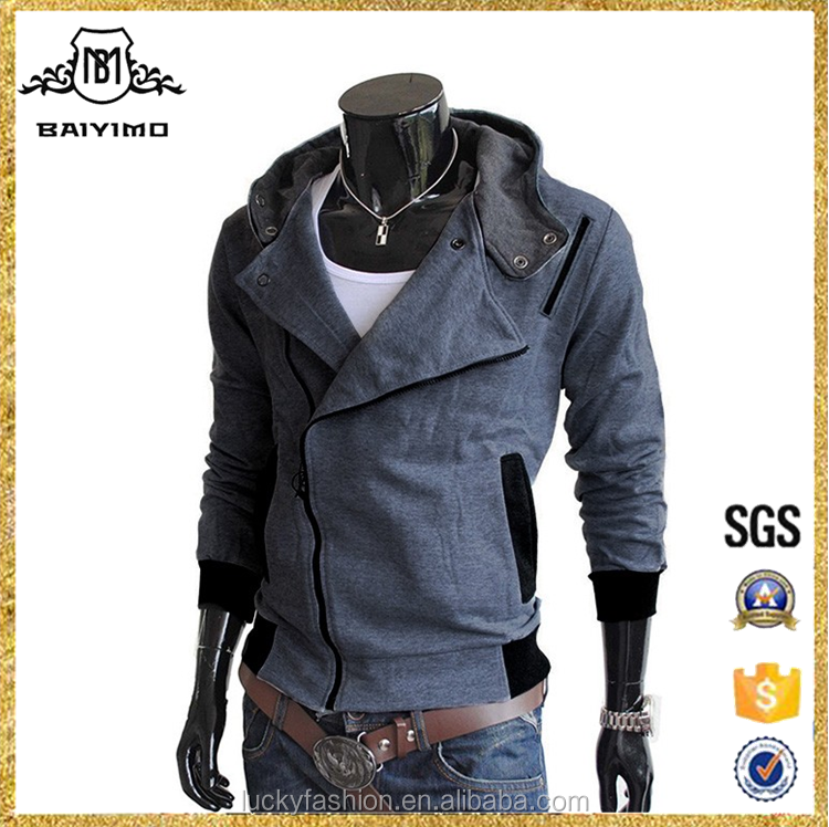 2017 Wholesale Custom Private Label Cotton Dri Fit Cardigan Zipper-up Man Slim Fit Granite Heathered Hoodies With Hood