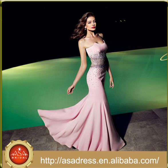 BOLAWOO Donna Vestiti Chiffon Lunghi da Sera Estivi Eleganti da Cerimonia Bandeau Abito Impero Alto Basso Asimmetrico Vita Alta Vestito da Sposa A
