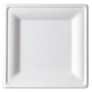 6 inch Square Microwave Safe Compostable Sugarcane Plates for Weddings