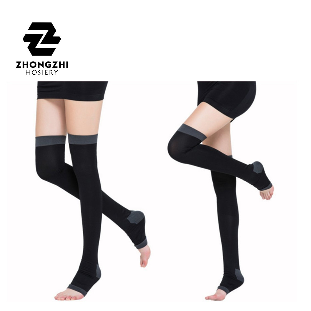 Men's Socks Bright Long Miracle Compression Knee Socks Blood Circulation Stockings Breathable Fat Burn Leg Slimming Socks Anti Fatigue Male Socks